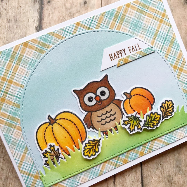 Sunny Studio Stamps: Sunny Saturday Happy Owl-o-ween Card Share by From The Woman Cave