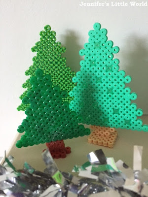 Hama bead Christmas forest