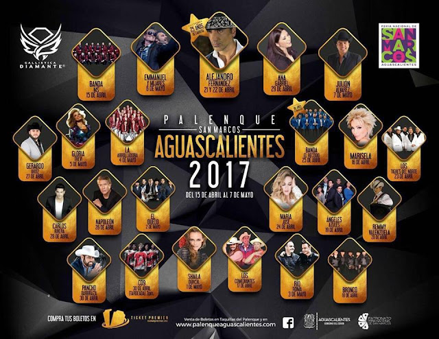 artistas palenque feria san marcos 2017