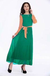 dress muslimah untuk pre wedding kahwin