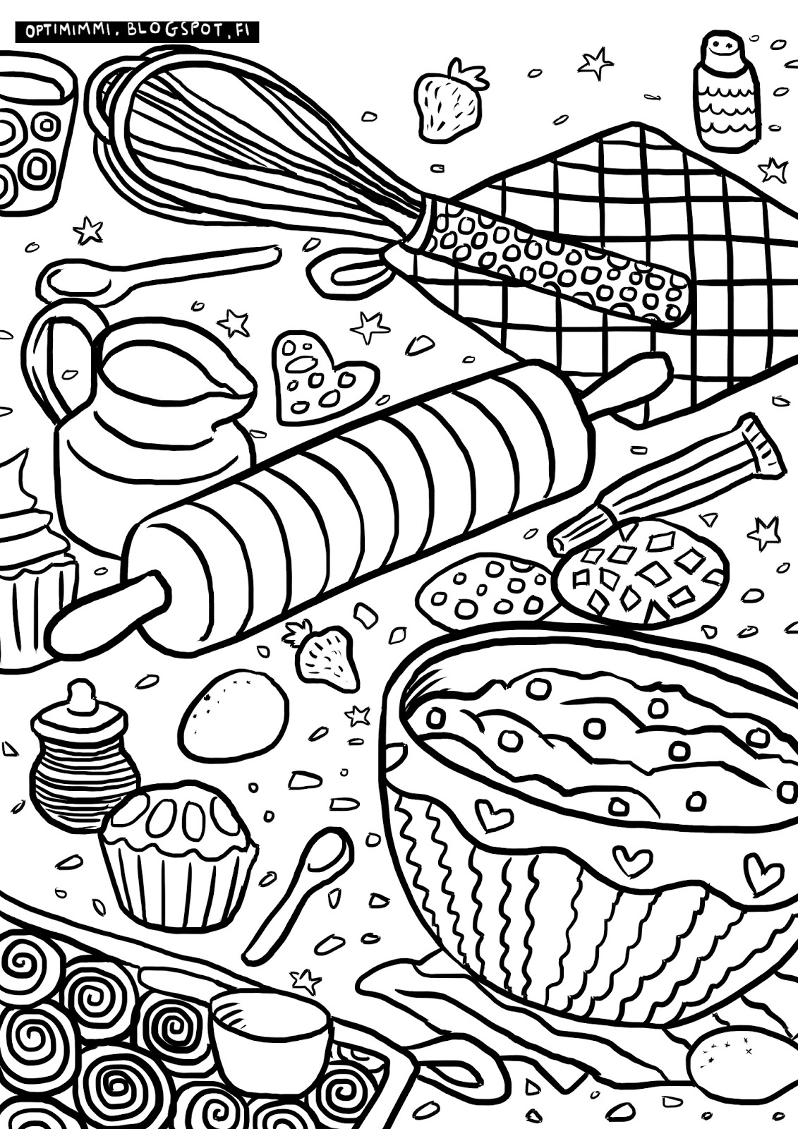 coloring pages of baking - photo#11