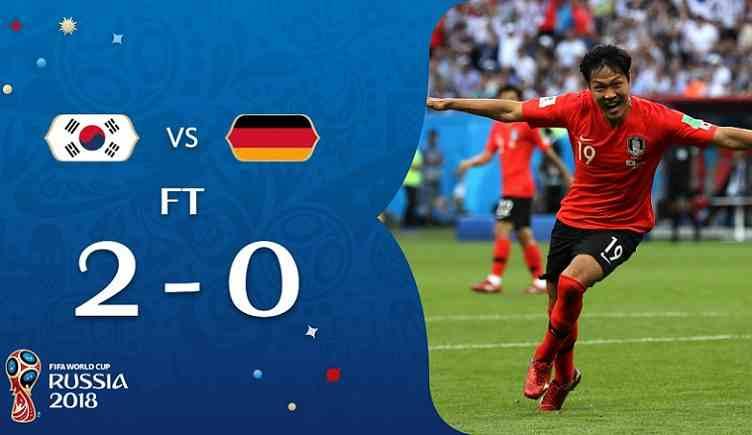 Hasil Korea Selatan vs Jerman Skor Akhir 2-0 | Fase Group F World Cup 2018