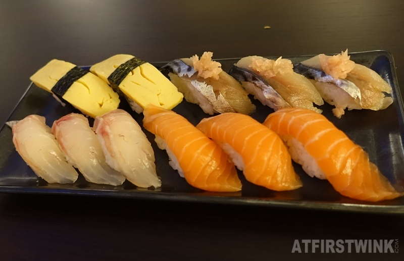 Yuniku Leiden All you can eat sushi & grill nigiri sushi salmon tai tamago saba