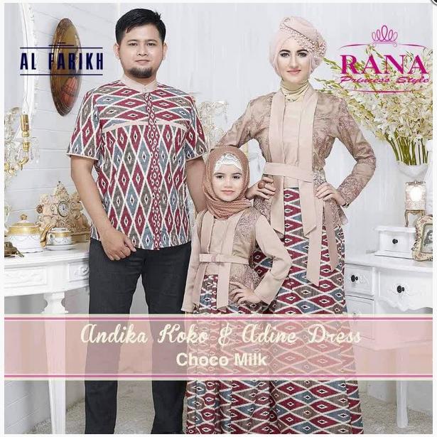 Model Baju Batik Pesta Keluarga Muslim Modern Terbaru
