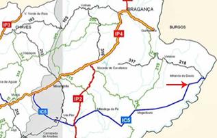 mapa estrada ic5 Mogadouro e Miranda do Douro já estão ligadas através do IC5  mapa estrada ic5