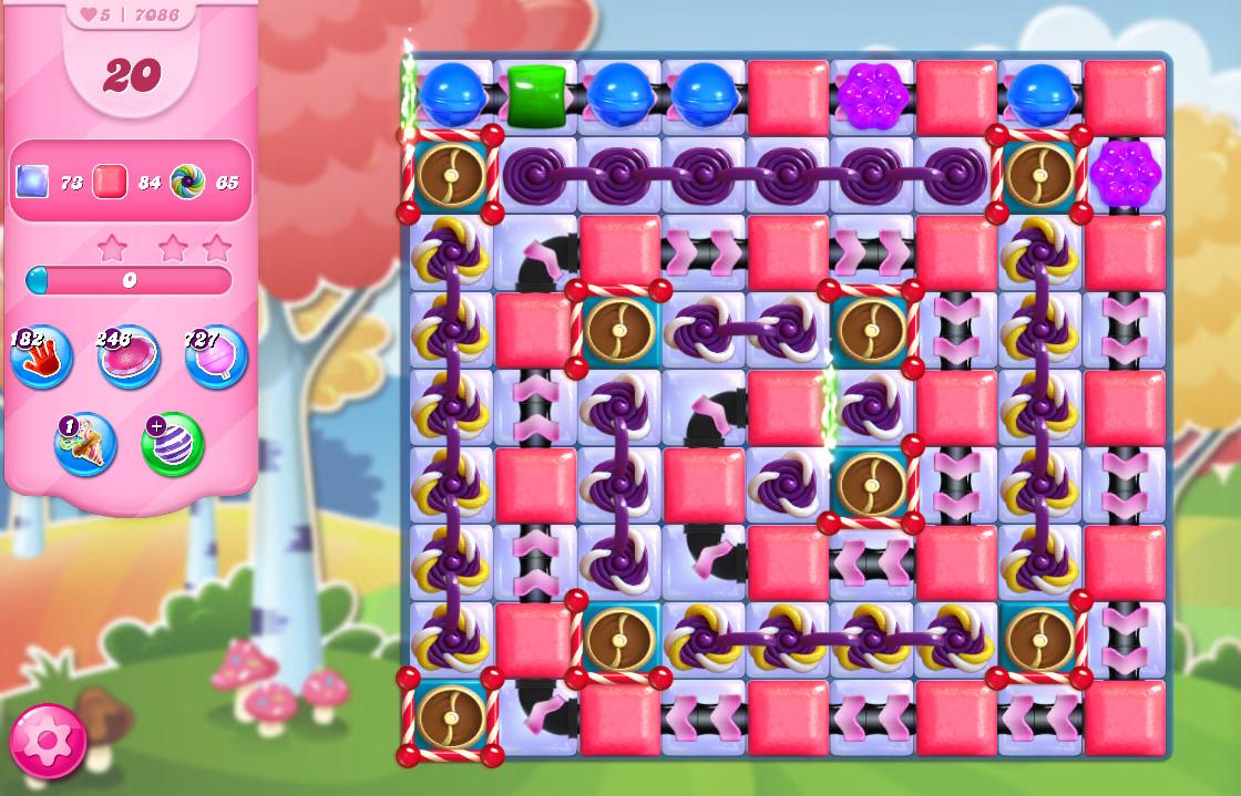 Candy Crush Saga level 7086
