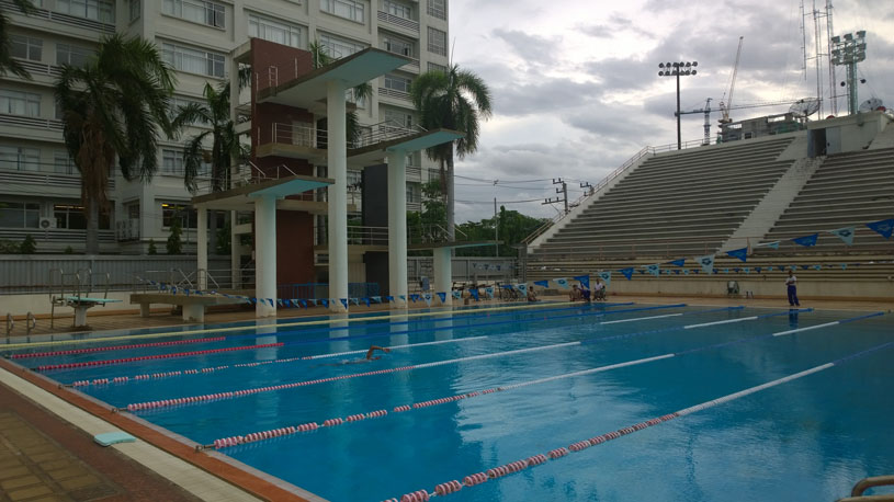 to do some laps in bangkok look no further than the wisutamol swimming pool it is located next to the national stadium olympic size swimming pool