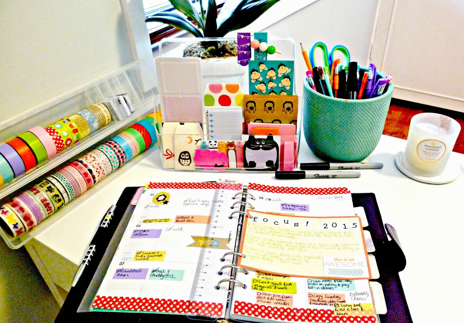 Philofaxy Guest Post My Filofax A5 Planner Setup Lisa