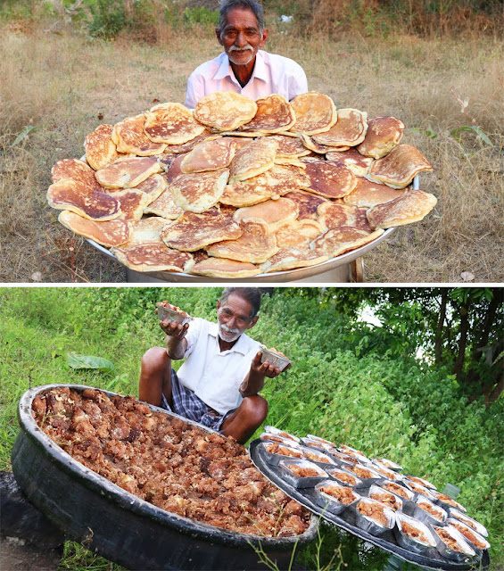 This man cooks large amounts of food and gives it to needy people