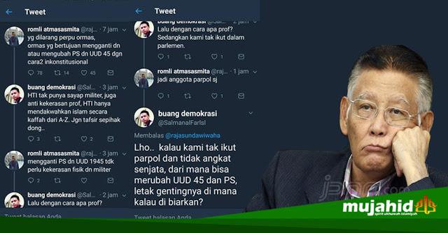 Ditanya Netizen, Profesor Perancang Perppu Ormas Muter-Muter di Twitter