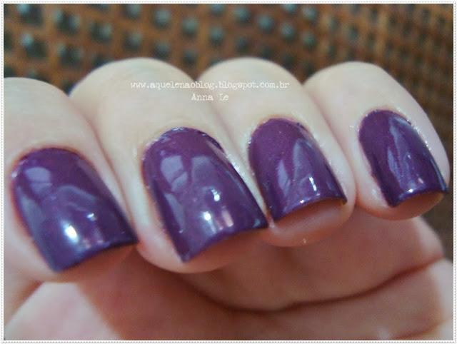 Dádiva Anita Esmalte Nailpolish Roxo Purple Perolado