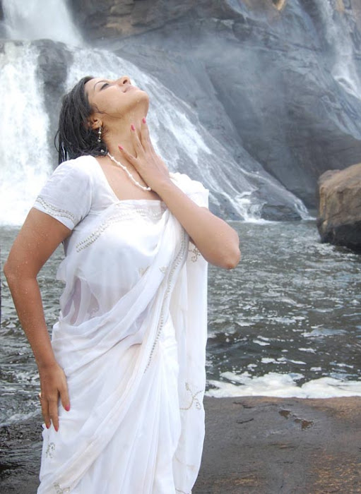beloved and stylish Keerthi chawla in white saree