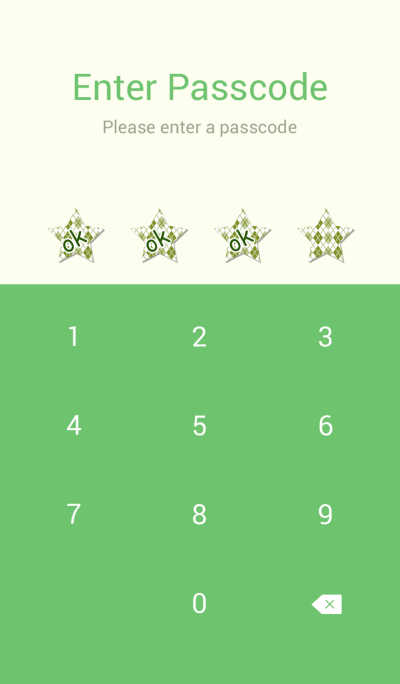 Star green check