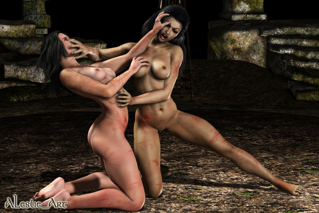 Bitch Fight Blog Catfight Umetnost Naked Gypsy Fight-2389