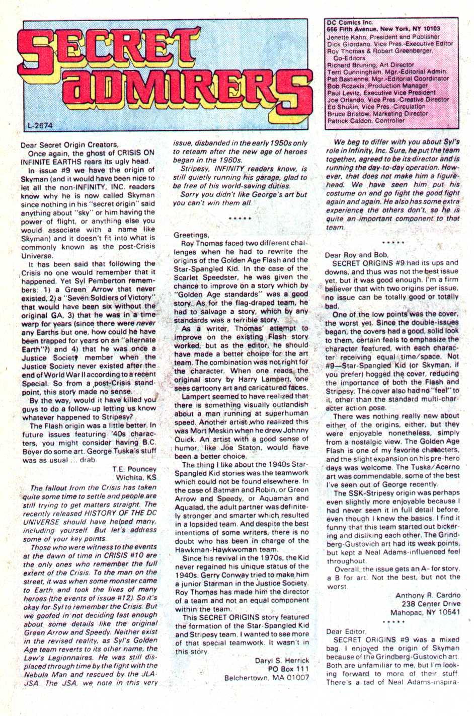 Read online Secret Origins (1986) comic -  Issue #14 - 43