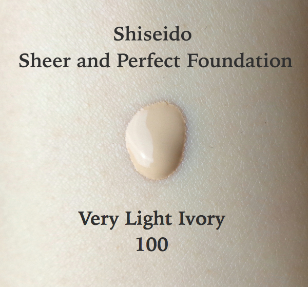 Shiseido Sheer and Perfect Foundation Very Light Ivory Swatch