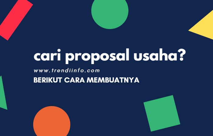 contoh proposal usaha, cara membuat proposal usaha untuk pemula