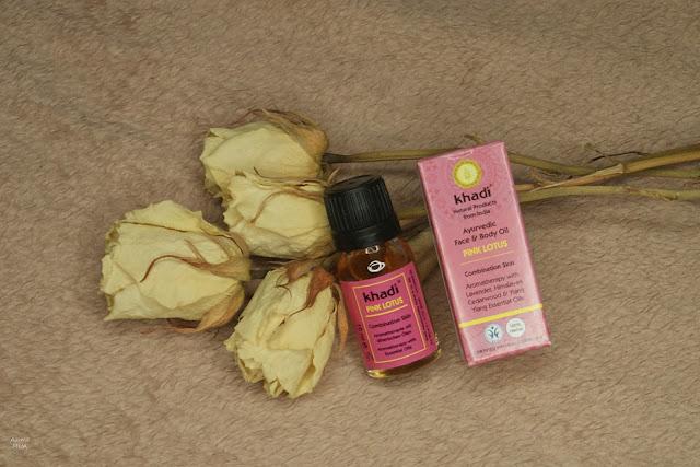 [266.] Ajuwerdyjski olejek do twarzy i ciała z różowym lotosem, khadi.