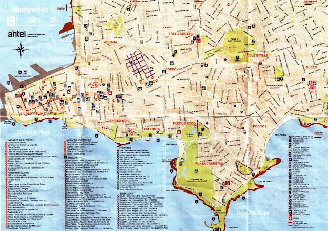 Mapa Turísitco Oficial de Montevideu