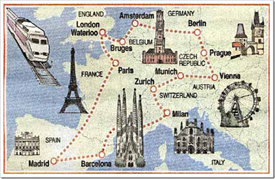 Resultado de imagem para viajar pela europa