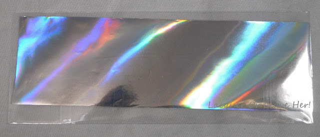 Holographic nail foil from Charlie's Nail Art