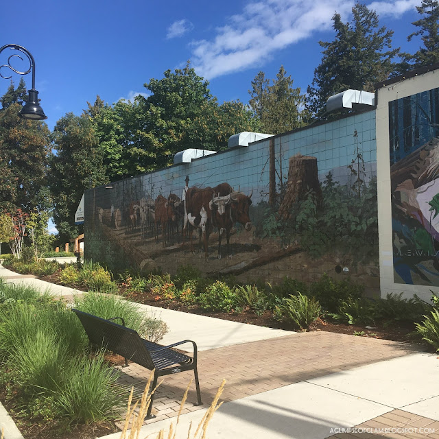 Wall Murals in Chemainus BC - Andrea Tiffany A Glimpse of Glam