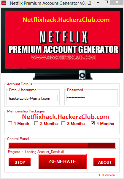 Netflix Premium Account Generator Online 2014