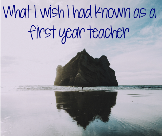 This blog post has some great ideas for new teachers!  These lessons took me several years to learn, but teaching sure was easier once I figured some of these things out! Click here to read some great ideas from a veteran teacher.