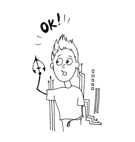 Ecsédi Orsolya: Cirrus a Tűzfalon - Egy rendbontó vírus kalandjai című ifjúsági regény illusztrációja (Könyvmolyképző kiadó) illusztrálta László Maya