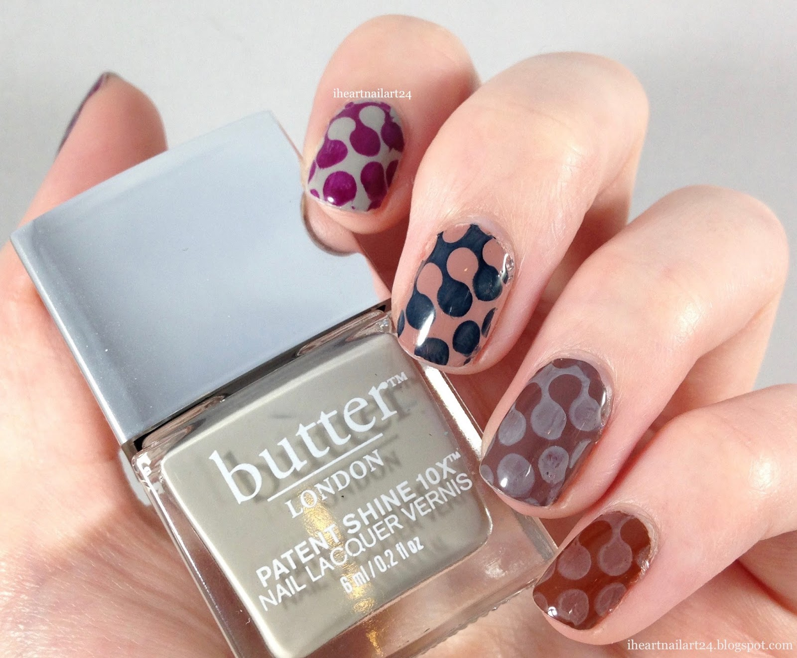 Stamped Nail Art With The Butter London Eventful Gift Set I Heart