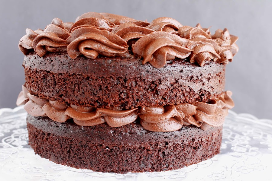Receta Layer cake de chocolate y buttercream de chocolate