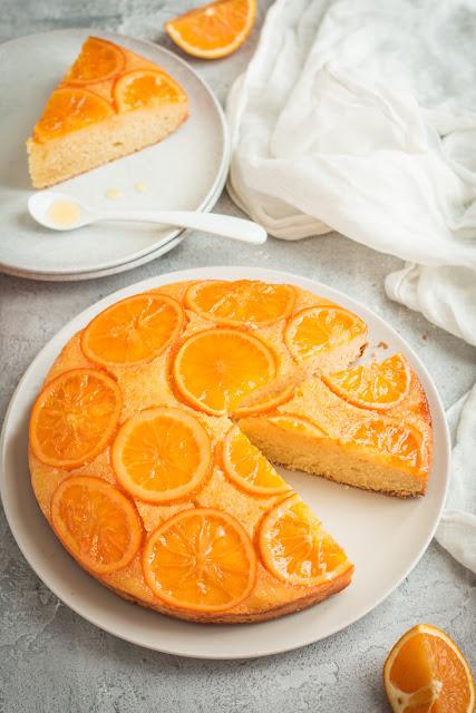 Gâteau renversé aux oranges