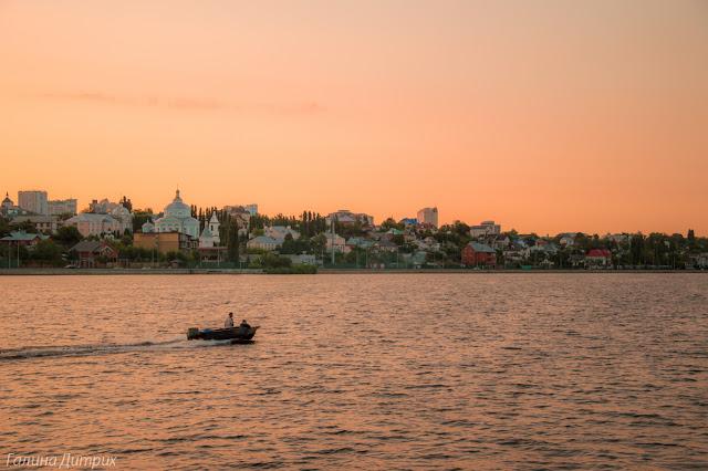 Закат на набережной в Воронеже