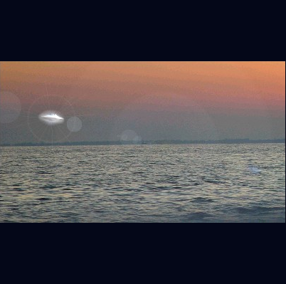 UFO Entering The Ocean
