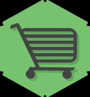 cart hexagon icon