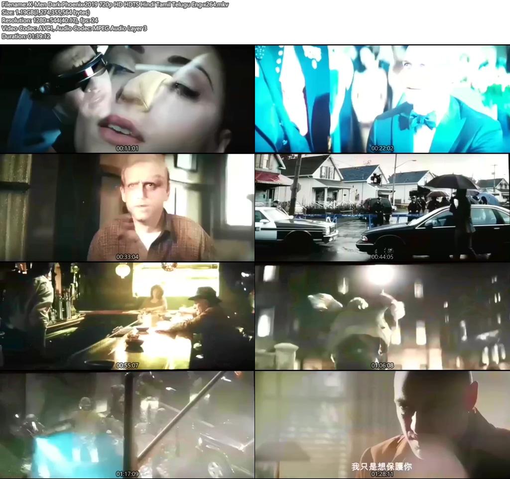 X-Men Dark Phoenix 2019 720p HD HDTS Hindi Tamil Telugu Eng x264 | 480p 300MB | 100MB HEVC Screenshot