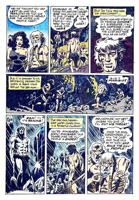 Tor v1 #4 st john golden age comic book page art by Joe Kubert