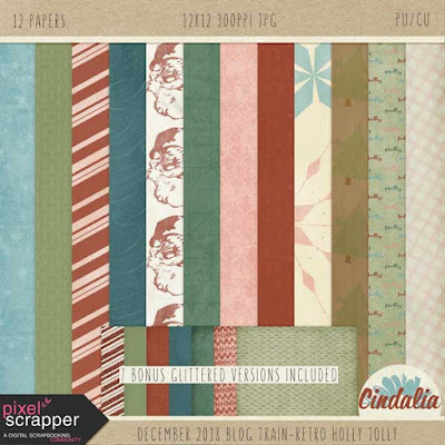 Pixel Scrapper, Blog train, digital scrapbooking, digital, free, December, Christmas, Winter, photoshop