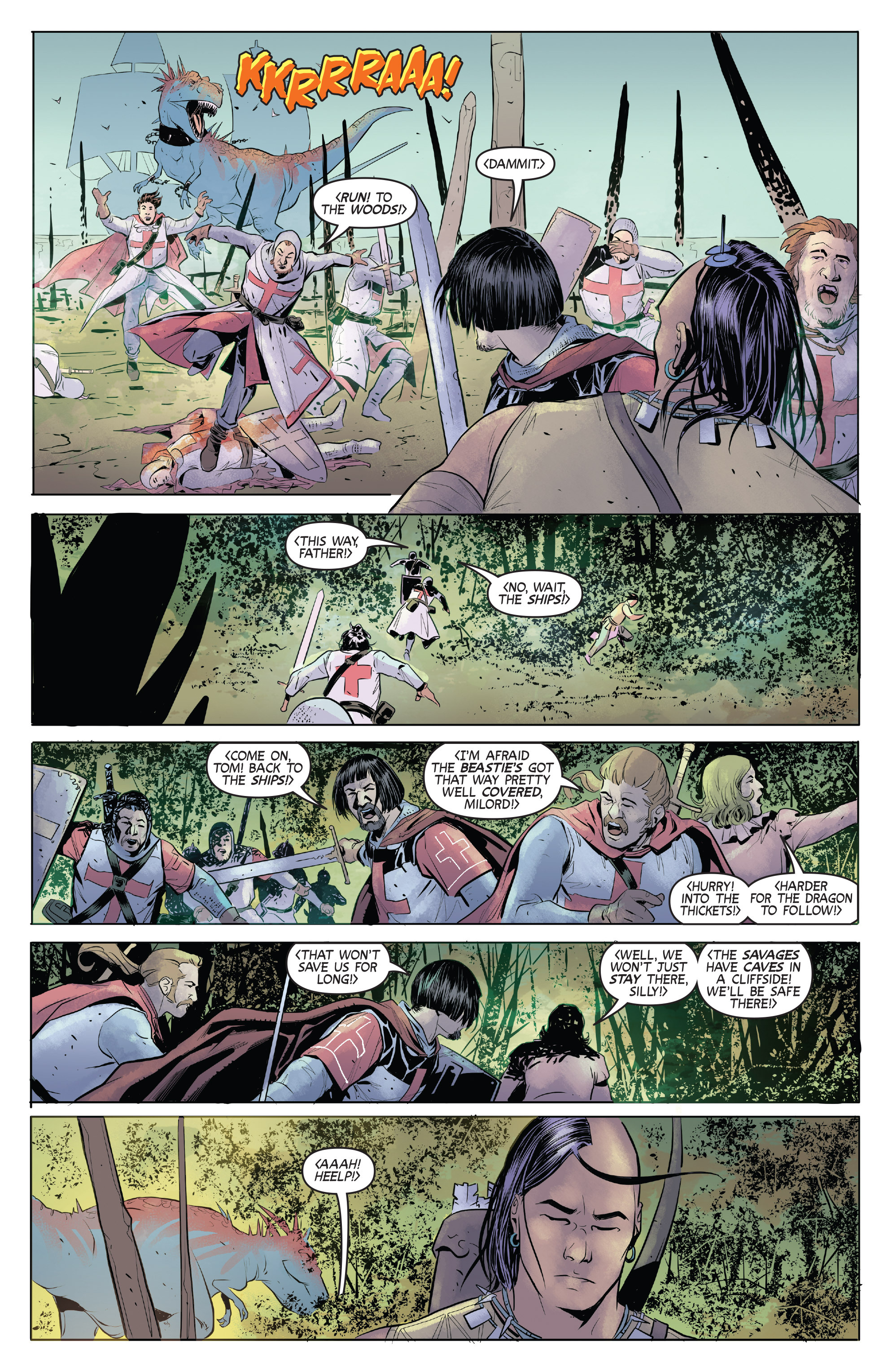 Read online Turok: Dinosaur Hunter (2014) comic -  Issue # _TPB 1 - 77