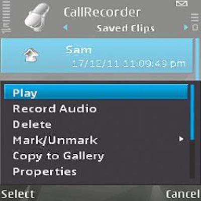 تنزيل برنامج تسجيل المكالمات نوكيا سي7 Call Recorder for nokia c7