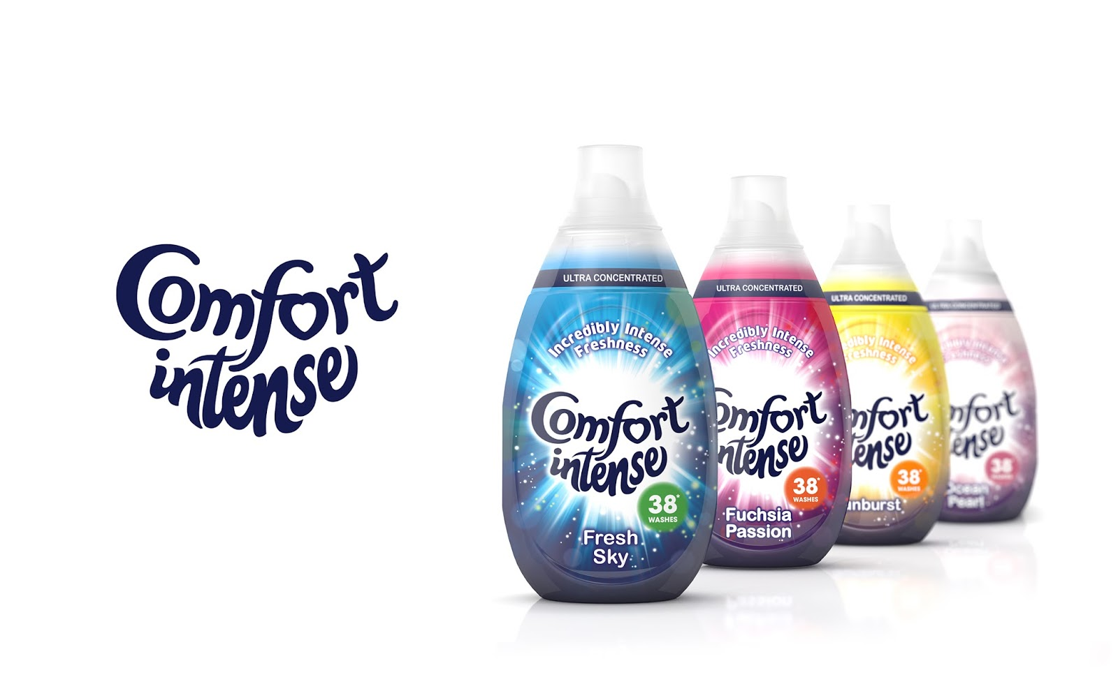 comfort intense on packaging of the world creative package design
