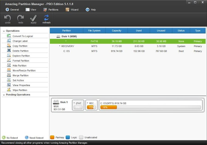 Amazing Partition Manager Pro Serial