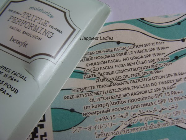 Triple Performing Face Moisturizer SPF 15 by Benefit #7