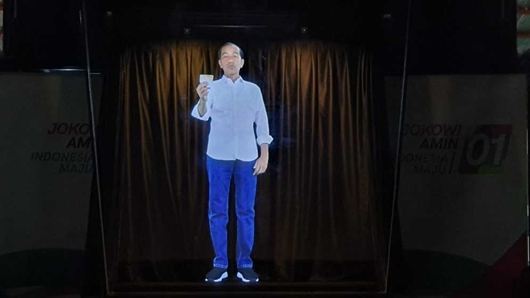 Begini Penampakan Hologram Jokowi-Ma'ruf untuk Kampanye Terbuka