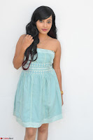 Sahana New cute Telugu Actress in Sky Blue Small Sleeveless Dress ~  Exclusive Galleries 025.jpg