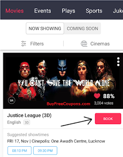 how to book movie tickets on paytm app