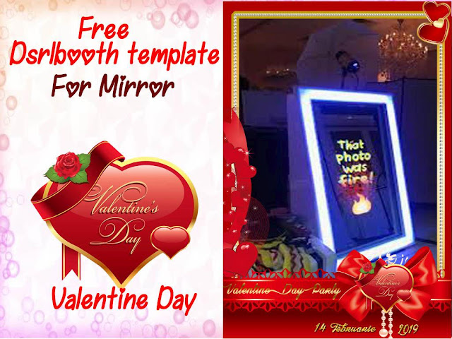 Valantine Day Dslrbooth template for mirror photobooth