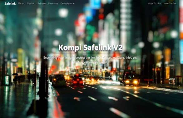 Premium Blogger Safelink Template Kompi Safelink V2