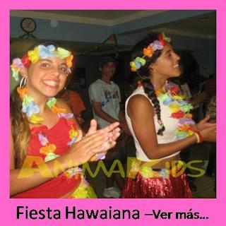 animacion de cumpleaños hawaiana