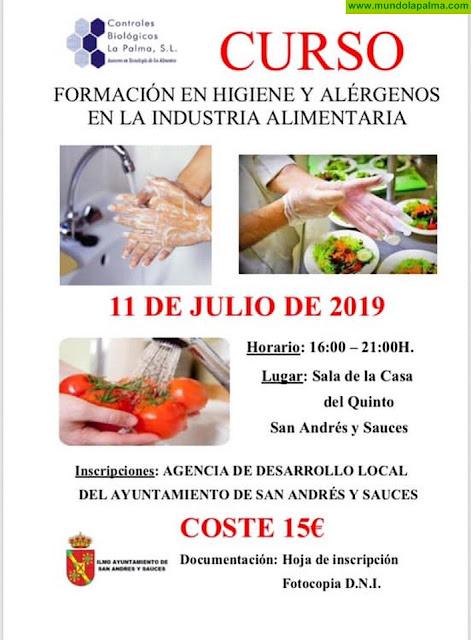 Curso de Formación en Higiene y Alérgenos en la Industria Alimentaria